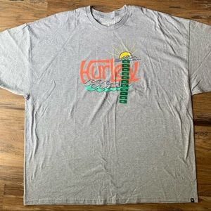 Hurley Gray graphic T-shirt size XXL